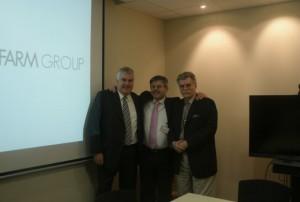 Jordi Solé, Angelo Toffanin y Hans-Peter Traupe de Swiss WorldCargo
