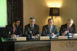 De izquierda a derecha: Luis Cordero, Ignacio Alvárez-Ossorio, Javier Echarte, y Lino Ramírez