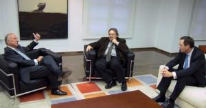 Rafael Aznar, Manuel Villalante y Vicente Dómine