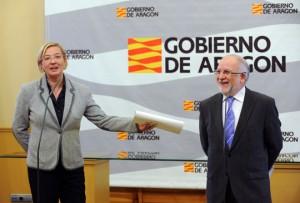Eva Almunia y Víctor Morlán