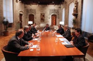Artur Mas en la reunión con la cúpula directiva de Inditex