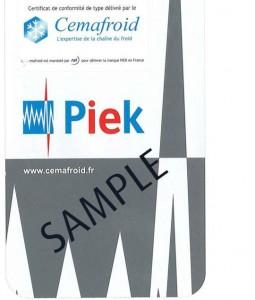 linde Certificación PIEK