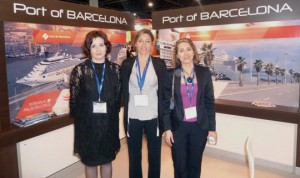 De izquierda a derecha: Mar Pérez, del área de Cruceros; Carla Salvadó, resposnable de Cruceros y de Marketing del Port; y Núria Burguera, directora de Comunicación