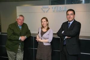 De izquierda a derecha: lluís Romeu, Blanca Romeu y Sergi Casado