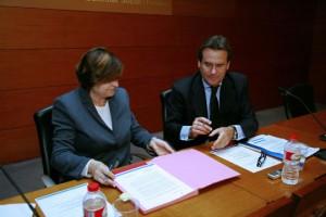 Sixte Cambra y la subdelegada del Gobierno, Montserrat García