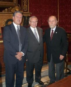 De izquierda a derecha, Ramón Paredes, Miquel Valls y Carlos Güell