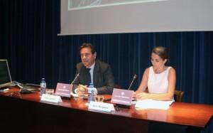 Sixte Cambra, presidente del Port de Barcelona durante la presentación de los resultados