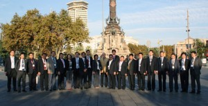 Una delegación de China at Barcelona Summit visitó el puerto de Barcelona