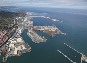 vista aérea puerto Bilbao