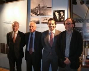 De izquierda a derecha: Antonio Vargas, Luigi Ranauro, Guido Grimaldi y Roger Marcet