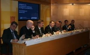 De izquierda a derecha: Joan Ferrandiz, Diego Perdones, Juan Ramón Rodríguez, Santiago García-Milà, Xavi Moliner, Marga García, Miquel Borràs y Guillermo Oliva