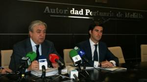Arturo Esteban, Presidente de la Autoridad Portuaria de Melilla (izquierda) y José Luis Almazán, director de la Autoridad Portuaria de Melilla