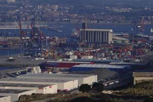 vista parcial Puerto de Bilbao (febrero 2012)