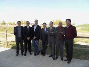 Joan Cantarell, Wences Vergés, Paco Prado, Paco Núñez, Toni Garcia, Gabi Ortega e Iñigo Sagüés, miembros del Comité Organizador