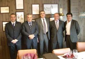 Salvador Richart, Alberto Hurtado, Emilio Sanz, Josep Rovira y Amadeu Outeiro