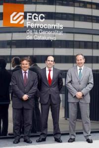 De izquierda a derecha: Enric Ticó, Marcelino Oreja y Pere Calvet