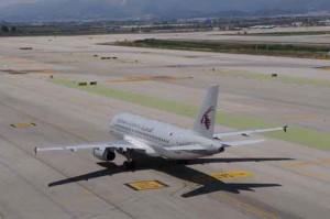 Qatar Airways BCN (foto de archivo)