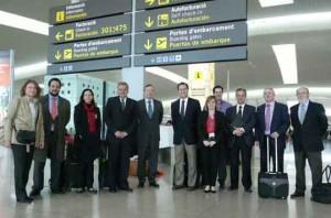 aeroport bcn_visita delegación brasil