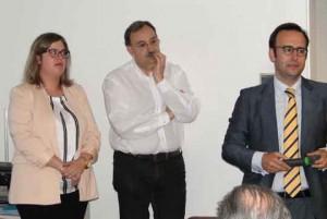 Ana Figueras, Jordi Urgelés y Juan Duran en el Colegio (25-6-13)