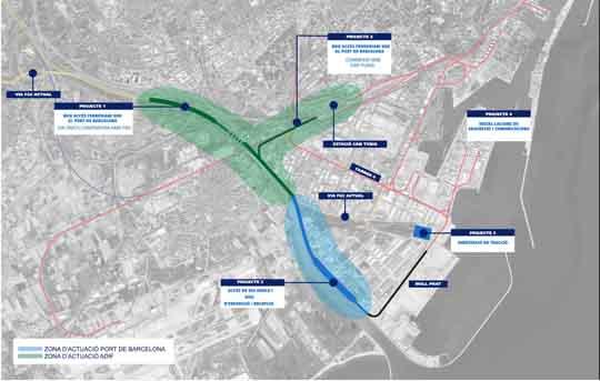 mapa accesos ferroviarios