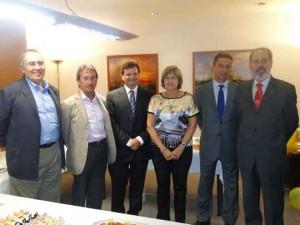 Maria Lluïsa Valldeperes i la Junta Directiva de COACAB