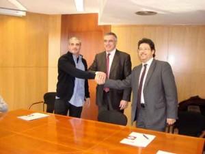De izquierda a derecha: Carlos Domingo, Pere Padrosa y Isidre Gavín
