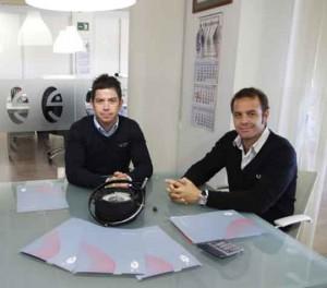 Antonio y Manuel Cozar, gerentes de ECS