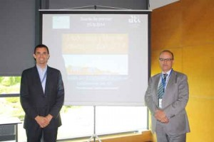 Lluis Soler Gomis, CEO de BUSCOelMEJOR izq y Juan Carlos Vigo, presidente de ATI Madrid dcha