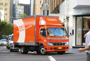 TNT Hino Hybrid truck