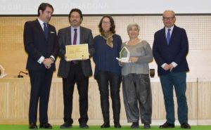 De izquierda a derecha, Juan Carlos Suárez-Quiñones, Isidre Gavín, Paula Rivas, de Green Building Council España, Fina Jarque, de Cimalsa, y Ángel María Marinero, de la Junta de Castilla y León