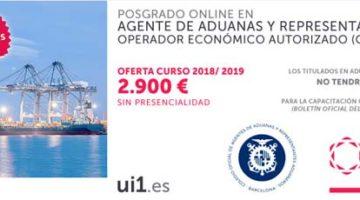 Posgrado online en Agente de Aduanas, ideal para ser representante aduanero