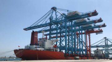 COSCO SHIPPING coordina la escala en Algeciras del 'Zhen Hua 23', cargado con tres grúas para APM Terminals